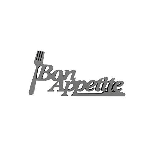 Idealtrend Schriftzug Moderne Sprüche aus MDF Holz 3D Spruch zum Aufstellen oder Aufhängen: Farbe: Bon Appetit