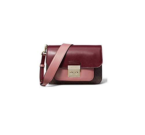 Leather Push-lock closure Exterior: 1 snap pocket Interior: 1 zip pocket, 3 card slots, 1 open compartment Removable, adjustable strap with 15 in - 18 in drop 9 in W x 6.5 in H x 2.5 in D