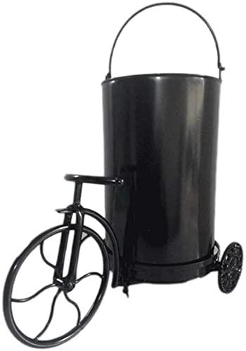 DZCGTP Papelera de Reciclaje de residuos/Papelera de Metal Retro Bote de Basura Decoración del hogar Bote de Basura Hierro Forjado Bicicleta y Barril Bar Restaurante Bedro