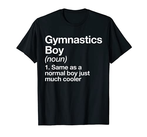 Gymnastics Boy Definition T-shirt Funny Sports Tee