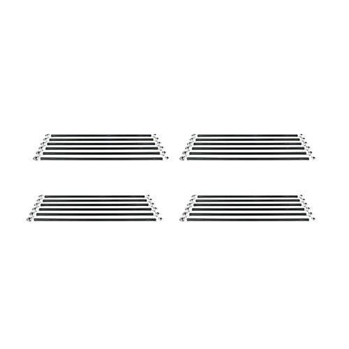ZRNG 6Pcs / Set Parallel manipolatore Fisheye di Carbonio Rod Kit Fit for Viti Kossel Delta 3D Parti della Stampante Accessori Alta qualità (Color : M3 20CM)