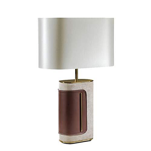 GZQDX Moderno Creativo Simple Sala de Estar Dormitorio de Cuero lámpara de Mesa Creativa Dormitorio de Noche Modelo de habitación