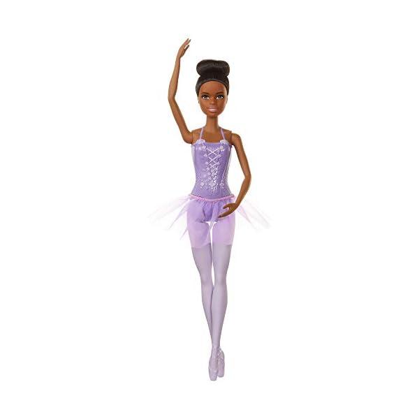 Barbie Bailarina de Ballet Afroamericana, Muñeca para Niñas y Niños +3 Años (Mattel GJL61)