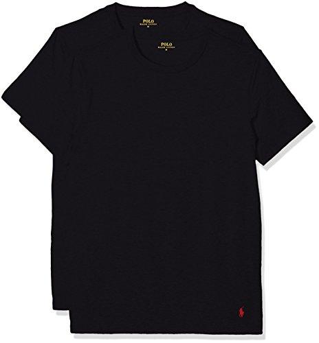 Polo Ralph Lauren Herren Classic T-Shirt, Schwarz (2Pk Polo Black/Polo Black 001), Large (2er Pack)