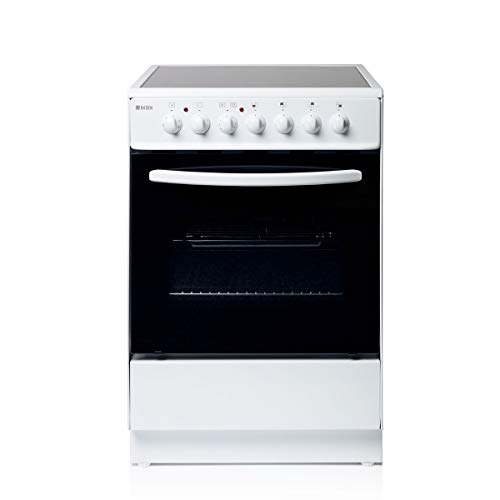 Haden HEC60W Electric Cooker - Freestanding 64 Litre Oven with 4 Zone Ceramic Hob - Single Cavity...