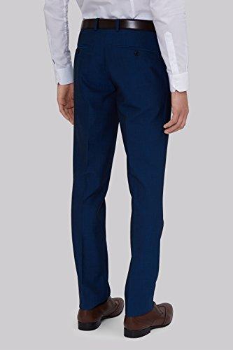 Moss London Men's Skinny Fit Peacock Suit Pants 38L Blue