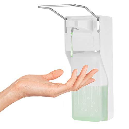 Frontoppy Seifenspender 1000ml Edelstahlgriff Hygienischer Seifenspender mit Wandmontur, Elbow Press Seifenpumpen für Home Hotel Krankenhaus