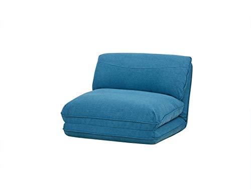 Amazon Basics - Sofá cama, 78 x 82 x 58, azul