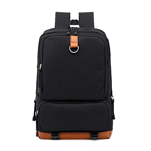 T-ara The Laptop Backpacks Women Raincoat Backpack Men Bags Prominent Capacity Travel Bag Essential for hiking (Color : Black, Size : 43 * 28 * 15cm)