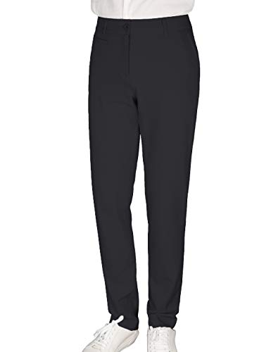Women's Golf Pants Stretch Straight Lightweight Breathable Twill Work Chino Ladies Pants Size 8 Black