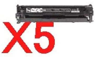 5 x Compatible HP CB540A Black Toner Cartridge 125A