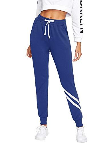 SweatyRocks Women's Causal Drawstring Waist Yoga Active Workout Long Pant with Pocket - Multi - Large