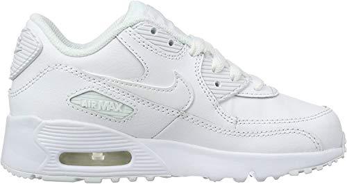 Nike Jungen AIR MAX 90 LTR (PS) Traillaufschuhe, Weiß (White/White 100), 29.5 EU