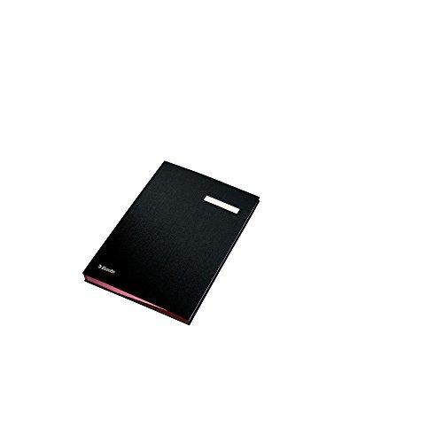 Esselte  621064 Unterschriftsmappe, 10 Fächer, ܜberzug PP, schwarz