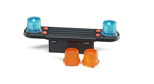Bruder 02801 - Light and Sound Modul (trucks) inklusive Batterie, mit 4 Funktionen Polizei-Yelp, Motorengeräusch, Polizei- und Feuerwehrsirene