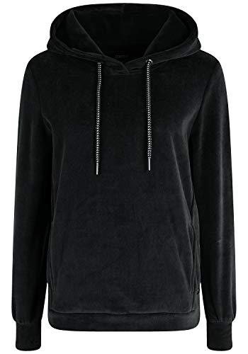 OXMO Nimma Damen Kapuzenpullover Hoodie Pullover mit Kapuze, Größe:XL, Farbe:Black (799000)