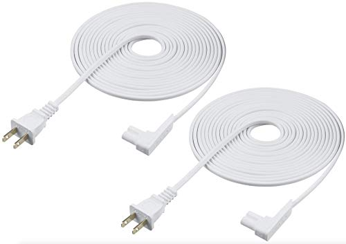 Best Buy! Vebner 16ft 2-Pack Power Cord Compatible with Sonos Play One, Sonos Play-1 and Sonos One S...