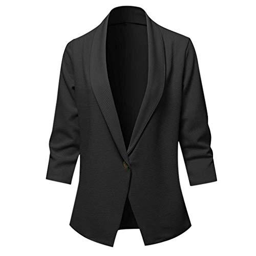 FRAUIT gebreide jas dames blazer cardigan een knoop pak Revers trenchcoat effen slim fit jas licht bolero mantel