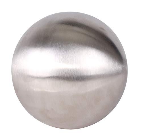 Spetebo Dekokugel Edelstahl matt gebürstet - 30 cm - Schwimmkugel Kugel Edelstahlkugel Gartenkugel