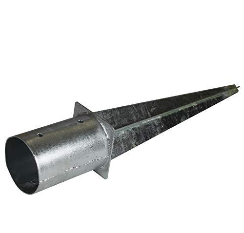 Einschlaghülsen rund, feuerverzinkt, verzinkt, Pfostenträger, Bodenhülse, Länge 60 cm 100 mm