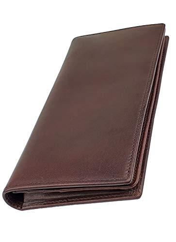 ファブリツィオ 長財布 メンズ 財布 薄い 小銭入れ 本革 ブランド 人気 イタリアンレザー 大容量(ダークブラウン)