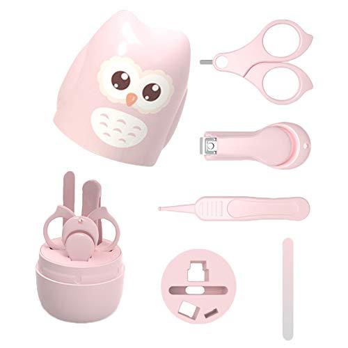 lovefei 4-in-1 Baby Nagelabdeckung Beauty Kit mit niedlicher Eule Box, Baby Nagelknipser, Schere, Nagelfeile und Pinzette, Baby Maniküre Pediküre Kit