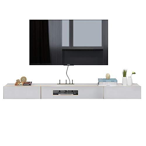 YBWEN Tv-meubel, drijvende dienblad, TV-wandhouder