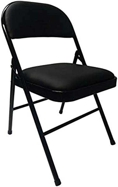 Realspace Vinyl Padded Folding Chair 29 3 4 H X 18 1 2 W X 19 5 8 D Black