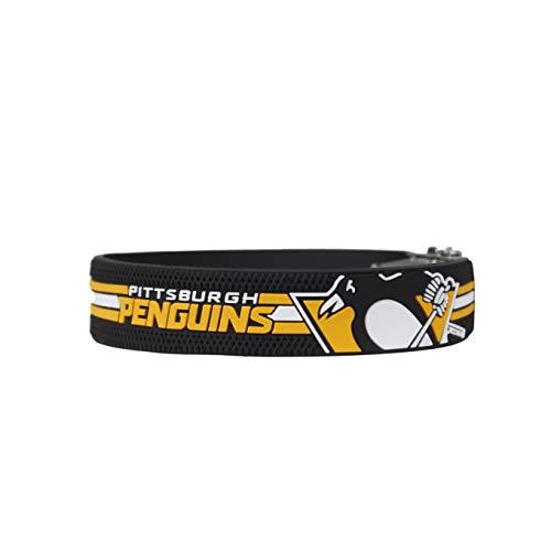 BRAYCE® Armband Pittsburgh Penguins I NHL® Trikot am Handgelenk Größen selbst anpassen I Armband verstellbar mit Puck Haptik als Geschenk für Eishockey Fans & Eishockeyspieler