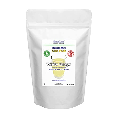 GramZero White Grape Zero Calorie Sugar Free Drink Mix, Great For Nutrition Club Loaded Teas, Stevia Sweetened