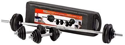 TA Sport 50 Kg Dumbbell and Barbell Set - PL46