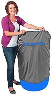 55 Gallon Straight Side Barrel Bag Cover, Grey