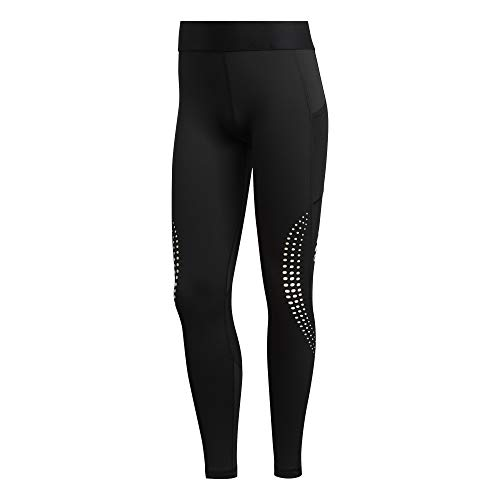 adidas Damen Ask L PWR T Tights, Black/White, L