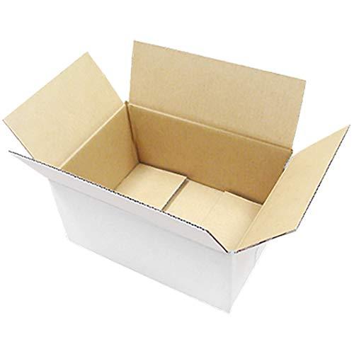 ダンボール 厚さ3mm A4 対応 305×220×125 白 業務用 100枚セット (ダンボール箱 段ボール箱)