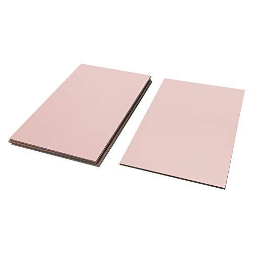 ZIIDOO 15 Pcs Copper Clad Laminate PCB,FR4 Circuit Prototype Board,Single Sided DIY Prototyping PCB Board(4x2.7 inch)
