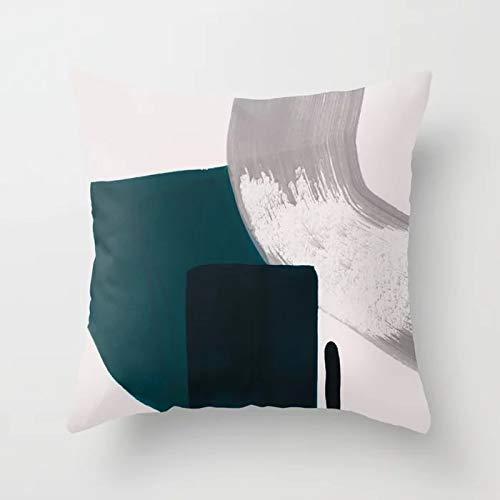 PPMP Funda de cojín de Pintura Abstracta Funda de Almohada de Tiro de ágata para la decoración del sofá del hogar Funda de Almohada Cuadrada Funda de cojín A17 45x45cm 2pcs