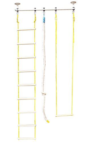 Plafondbeugel voor sport, fitness, turnring, turntrapezium, klimtouw, klimnet, bokszak, stang, rekstang, plafondmontage