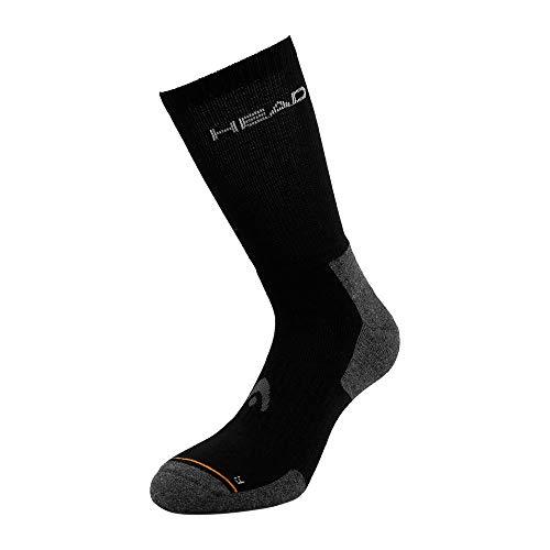 Head, Tennis Crew Athletes - Calcetines de tenis (talla 35-38), color negro
