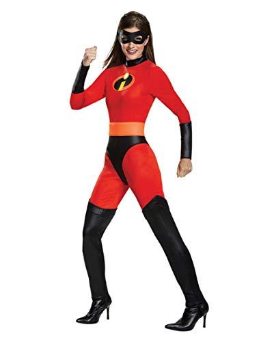Horror-Shop Mrs. Incredible Damen Kostüm mit Maske für Comic Con & Fasching M
