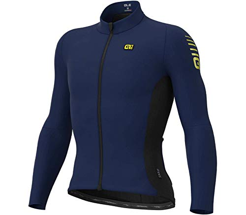 Alé Cycling ALE Herren Warm Race Radtrikot, Blue