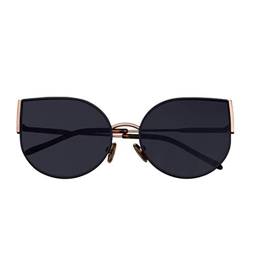 Bertha Logan BRSBR036BK Damen-Sonnenbrille, polarisiert, Edelstahl, Schwarz, BRSBR036RG, BRSBR036RG