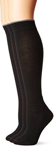 Smartwool Basic Knee High 3-Pack Black LG (Women's Shoe 10-12.5)