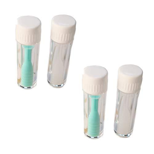 Artibetter 4pcs Rimozione lenti a contatto, ventosa con pacchetto per uso domestico da viaggio (2 pezzi verde + 2 pezzi bianco)