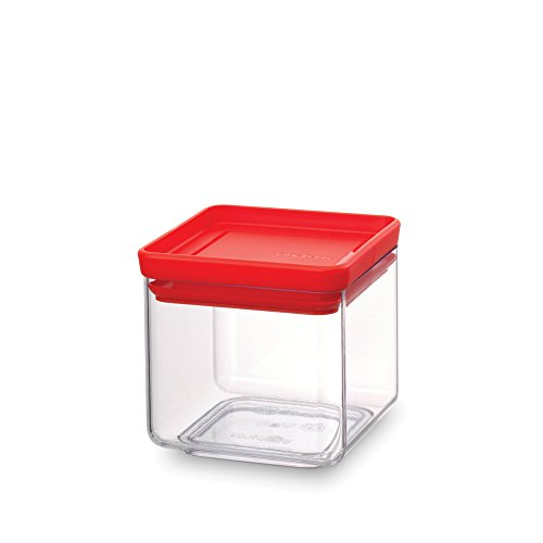 Brabantia Square Canister Barattolo, Tasty Colours Red, 0.7 l