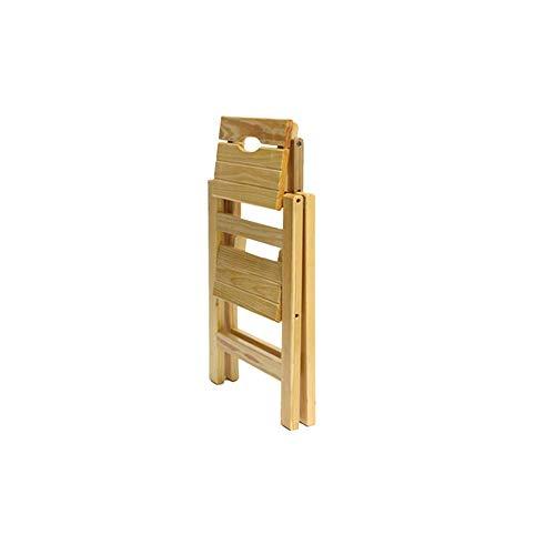 N / A 3 Schritt Hocker Startseite Holzklappleiter Stuhl Treppenstuhl Tragbare Licht-Garten-Werkzeug Leiter (Farbe, 3 Stufen),2 Stufen