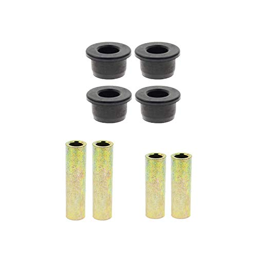 Replacement #1015583#1012303#1016350 Front/Rear Leaf Spring & Front Upper A Arm Suspension for Club Car DS Golf Cart 1992-up Bushing and Sleeve Kit