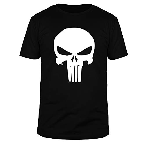 FABTEE - The Punisher T-Shirt Männer, Größen S-4XL, Größe:L, Farbe:Schwarz