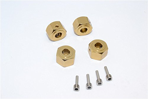Vaterra K5 Blazer Ascender Tuning Teile Aluminium Hex Adapter (12mmx8mm) - 4Pcs Set Titanium
