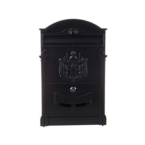 WZPG Wall-Mounted Mailbox, Outdoor Mailbox Creative Stainless Steel Mailbox, Modern Villa Outdoor Mailbox(40.5 * 24.5 * 7.5Cm)