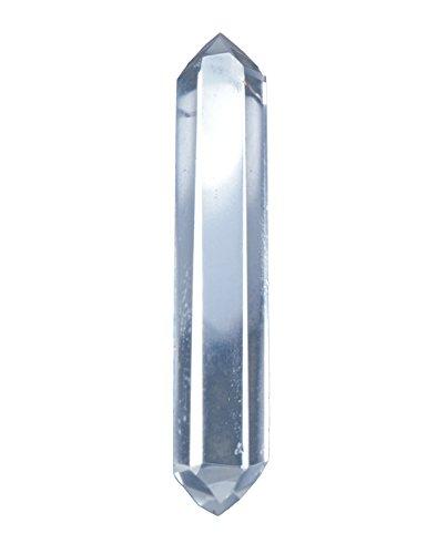 Doppelender Spitze aus Bergkristall 4-5 cm